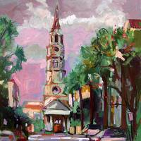 Charleston Pink Sky from Oil Painting by Ginette