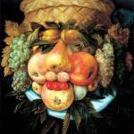 """Head_with_Fruit_Basket_1590_Wood_Reversed"" by OldWorldPrintShop"