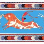 """New Minoan ""Bull Leaping"" Toreador Fresco"" by MinoanAtlantis"