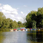 """Boats on Markeaton Lake (19577-RDA)"" by rodjohnson"