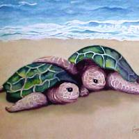 Turtle Buddies Art Prints & Posters by Ginny Schmidt