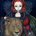 """Queen Elizabeth and a Lion"" by strangeling"