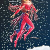 Snow Angels Holiday Card Art Prints & Posters by Ken Dyier