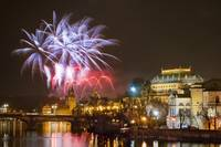 New Year's Eve Fireworks, Prague, Czech Republic