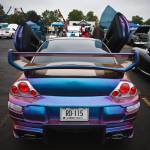 """Purple and Blue Mitsubishi Eclipse"" by tomharrisonphotography"