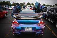 Purple and Blue Mitsubishi Eclipse