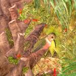 """Hummer nest in Cabbage Palm"" by Mesterartshop"