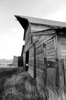 Rustic Barn in Black and White
