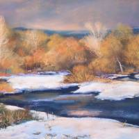 River in December Art Prints & Posters by Bonnie Griffith