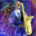 """The Sax Player"" by RickBorstelman"