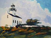 Point Loma Lighthouse By Riccoboni