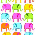 """Cute Elephant Color Palette"" by DezineZone"