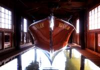 Classic Chris-Craft in Boathouse by Bill McAllen