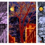 """Another Brooklyn Night, NYC - Triptych"" by madeline"