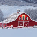 """Winter Barn Panorama 1"" by dkocherhans"