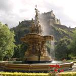 """Castle & Fountain Edinburgh 0808 b"" by jungleboy"