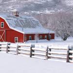 """Winter Barn Panorama 2"" by dkocherhans"