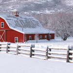 """Winter Barn Panorama 2"" by dkocherhans"