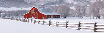 Winter Barn Panorama 2