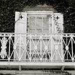 """Window with Balcony Black and White"" by iggyfan"