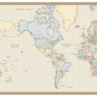 Antique Mercator World Map Art Prints & Posters by Jolan Falk