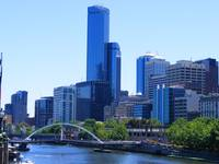 Downtown Melbourne and Yarra River 0461