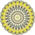 """Yellow Leaves Mandala"" by annesmandalas"