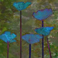 Teal Poppy Trio III