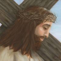 Jesus Carries the Cross Art Prints & Posters by Elaine Rittler