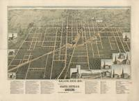 1891 Galion, OH Bird's Eye View Panoramic Map