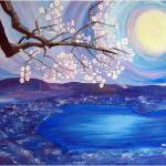 """""""Cherry Blossom Over The Lake"""" by stellapinilla"""