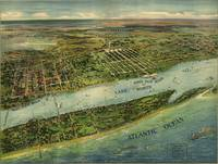 Panoramic Map of Palm Beach & Lake Worth, FL