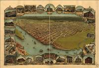 1902 Eureka, CA Birds Eye View Panoramic Map