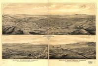 1877 Los Angeles, CA Bird's Eye View Panoramic Map