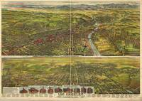 1894 Los Angeles, CA Birds Eye View Panoramic Map