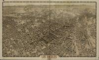 1909 Los Angeles, CA Birds Eye View Panoramic Map
