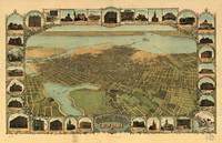 1900 Oakland, CA Birds Eye View Panoramic Map