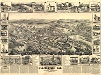 1888 Placerville, CA Bird's Eye View Panoramic Map