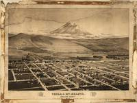 1884 Yreka, CA & Mount Shasta Panoramic Map