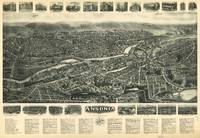 1921 Ansonia, CT Bird's Eye View Panoramic Map