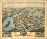 1876 Birmingham, CT Bird's Eye View Panoramic Map
