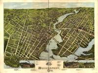 1875 Bridgeport, CT Bird's Eye View Panoramic Map