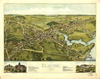 1881 Clinton, CT Bird's Eye View Panoramic Map