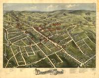 1875 Danbury, CT Bird's Eye View Panoramic Map