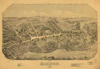 1881 Madison, CT Bird's Eye View Panoramic Map