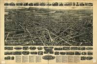 1918 Meriden, CT Bird's Eye View Panoramic Map