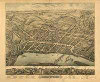 1877 Middletown, CT Bird's Eye View Panoramic Map