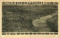 1915 Middletown, CT Bird's Eye View Panoramic Map