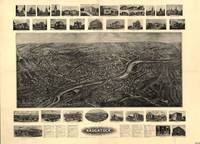 1906 Naugatuck, CT Bird's Eye View Panoramic Map