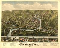 1879 Seymour, CT Bird's Eye View Panoramic Map